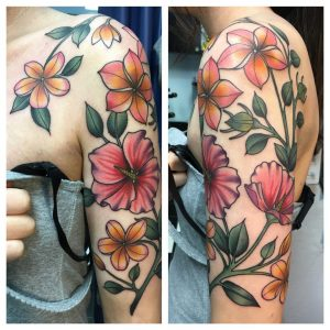 attractive-clock-and-flower-tattoos-2