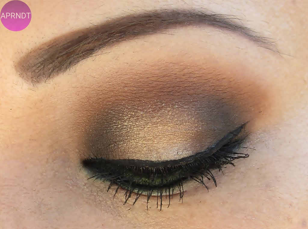 maquillaje outfit marron